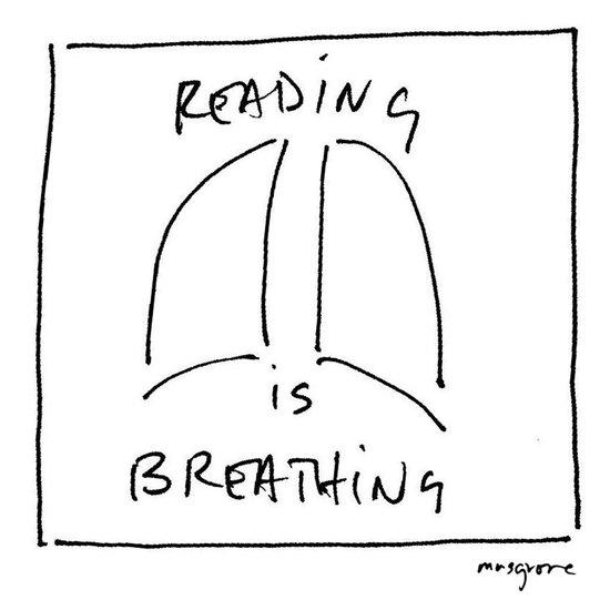 Reading is Breathing Art Print