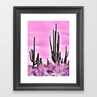 Wild Cactus Framed Art Print