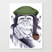 Wise Mr. Chimp Canvas Print