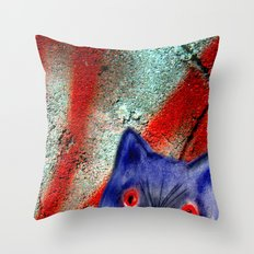 Gordon The Graffiti Cat Throw Pillow