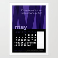 2013 Pigment to Pantone Calendar – MAY Art Print