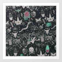 Bones In The Desert Art Print