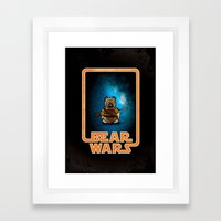 Bear Wars - Raider Framed Art Print