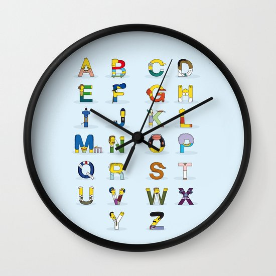 Simphabet Wall Clock