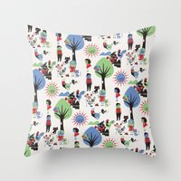 Beautiful day pattern Throw Pillow