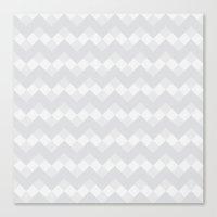Chevron Neue Gray And Wh… Canvas Print