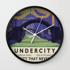 Undercity Classic Rail Poster Wall Clock