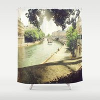 Seine, Paris Shower Curtain