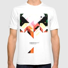 Abstrakt. SMALL White Mens Fitted Tee