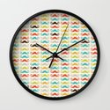 Hipster Mustaches Wall Clock