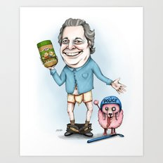 Jean Charest sucks Art Print