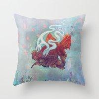 Ocean Jewel Throw Pillow