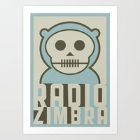 Radiozimbra 2 Art Print