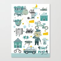 Thief Night Canvas Print