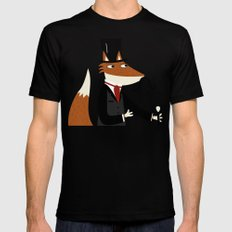 Sir Fox Mens Fitted Tee SMALL Black