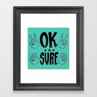 The Sarcastic Party Framed Art Print