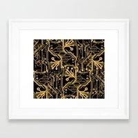 Techno Organic  Framed Art Print