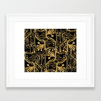 Techno Organic  Framed Art Print
