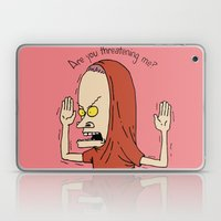 Are You Threatening Me? Laptop & iPad Skin