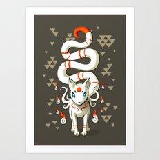 Long Tail Fox Art Print