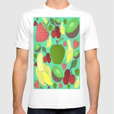 Fruit Explosion Mens Fitted Tee White SMALL