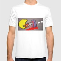 killer pacman Mens Fitted Tee White SMALL