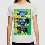Bird Of Steel Comix – … Womens Fitted Tee Silver SMALL