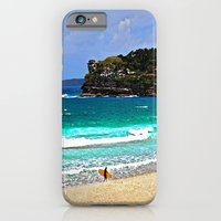 iPhone & iPod Case featuring Bondi Surfers by Barbara Gordon Photography