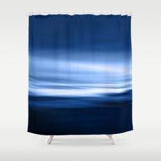 Blue silence Shower Curtain