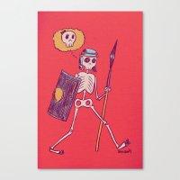 Skelie Canvas Print