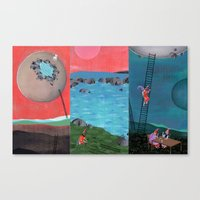 Personal Moons Canvas Print