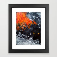 Down Cyuka Framed Art Print