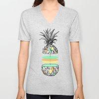 Sliced pineapple Unisex V-Neck