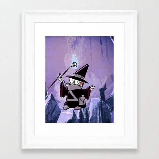 Harold the Evil Necromancer Framed Art Print