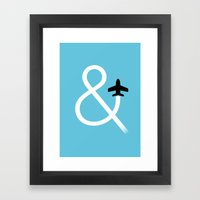 And Fly Framed Art Print