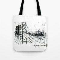 SF Bay Bridge Tote Bag