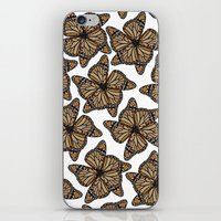butterfly flowers iPhone & iPod Skin