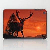 Deer on a hill iPad Case