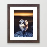 Washed Against the Coast Framed Art Print