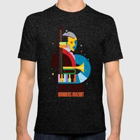 Mozart Mens Fitted Tee Tri-Black SMALL