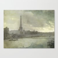 Paris, Pont d'Iéna Canvas Print