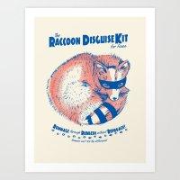 Raccoon Disguise Kit For… Art Print