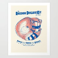 Raccoon Disguise Kit For… Art Print