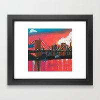 NYC in Twilight Framed Art Print