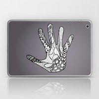 Doodle Hand (Black White) Laptop & iPad Skin