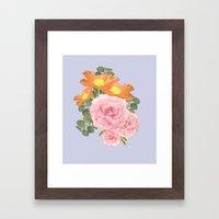 Summer Floral Framed Art Print