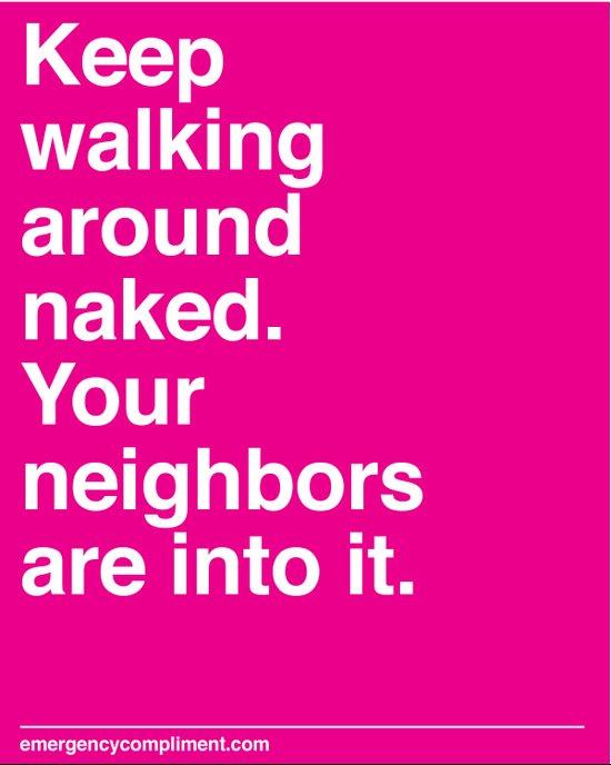 Walk Around Naked Art Print