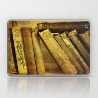 Old Books On A Shelf Laptop & iPad Skin