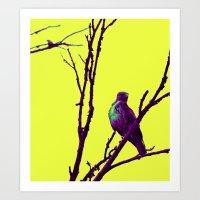 Purp Hawk Art Print
