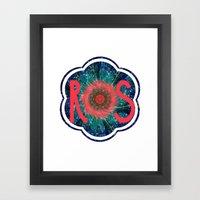 R S Logo Framed Art Print